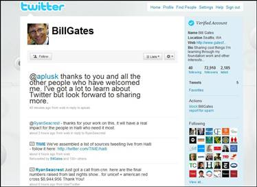 Bill Gates Joins Twitter, Gains 100K Followers in 8 Hours