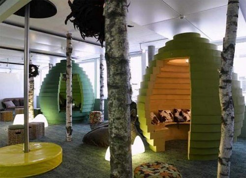 8 coolest office spaces ever for Unique office spaces