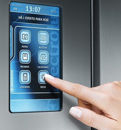 Admit It. All Thatu0027s Missing From Your Fridge Is A Touchscreen UI, One That  Lets You Control Its Internal Temperatures, Make Lists, Find Recipes, ...