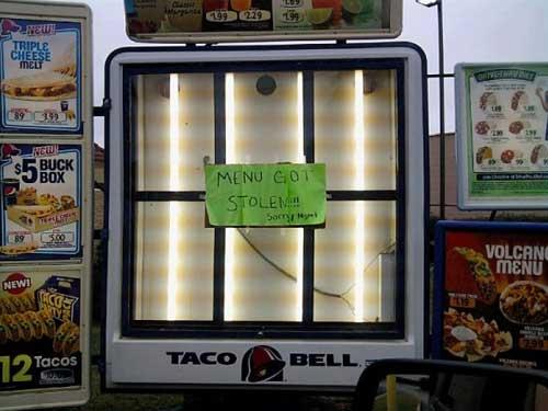 Taco Bell Combo Menu Prices Taco Bell Menu Taco Bell Menu