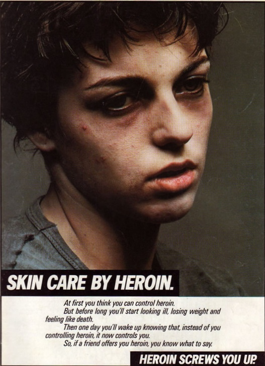Anti-drug campaign shows facial harm