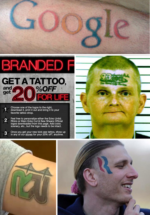 10 Terrible Brand Logo Tattoos People Were Paid to Get