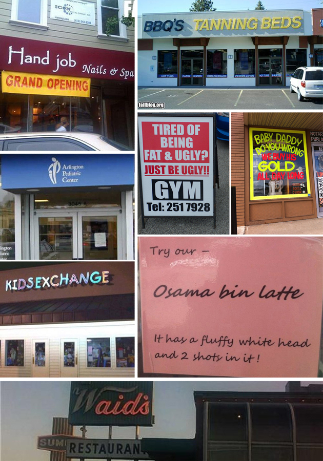 10 Unintentionally Hilarious Business Signs