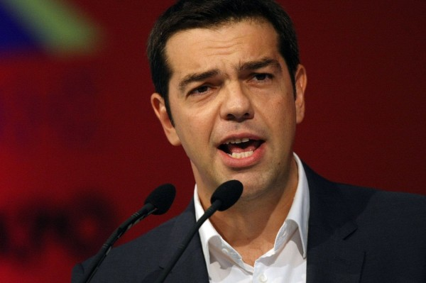 """Alexis Tsipras Syriza"" by FrangiscoDer - Own work. Licensed under CC BY-SA 3.0 via Wikimedia Commons."