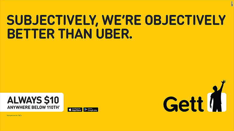Gett Ads Go After Uber Surge Pricing