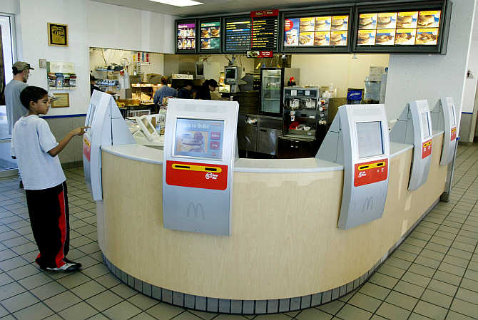 McDonalds Table Service in the United States