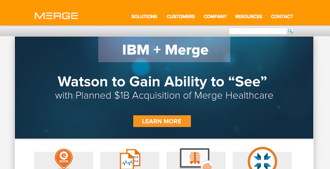 Merge Healthcare Purchased by IBM for 1 Billion Dollars