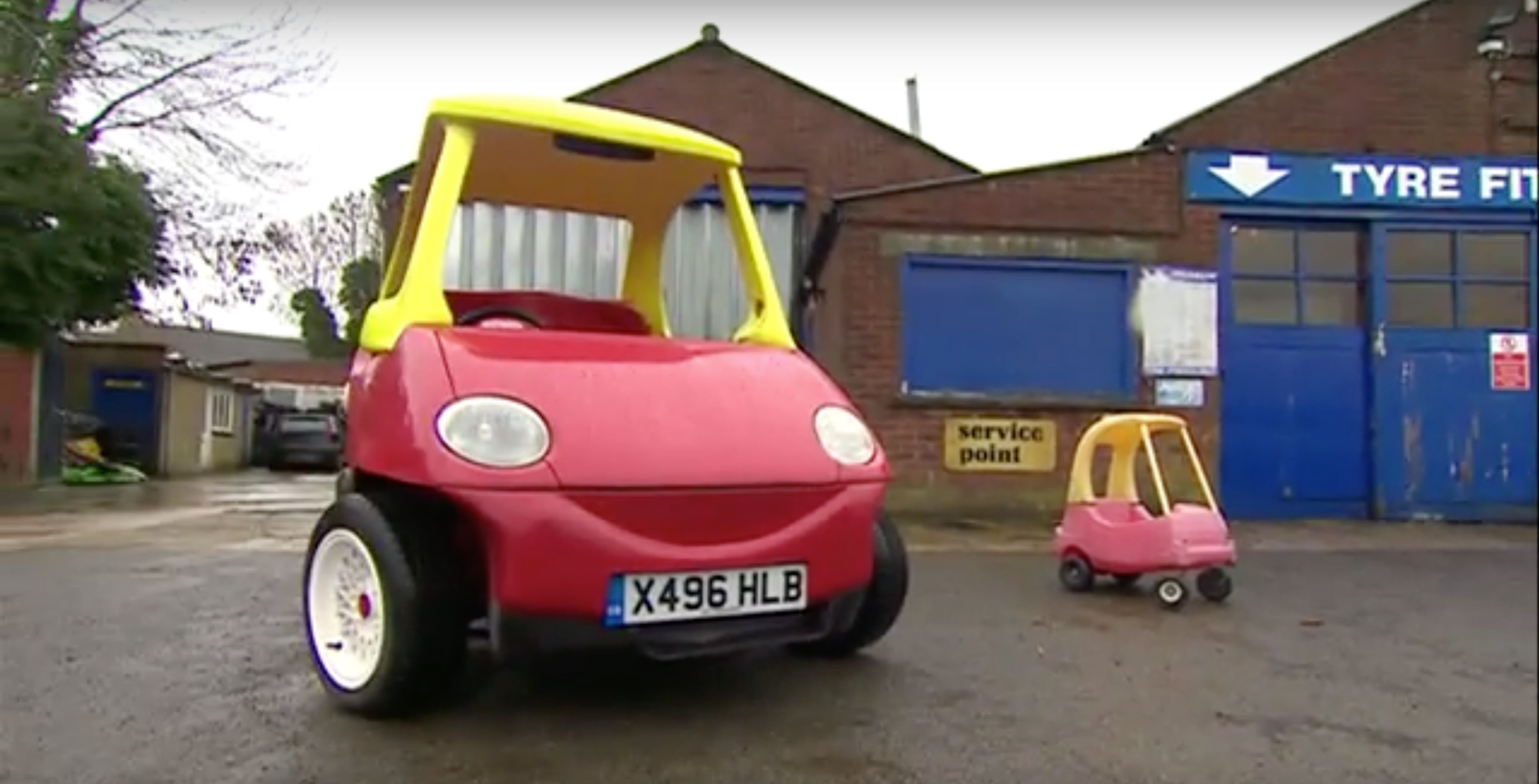 Adult Little Tikes Toy Car