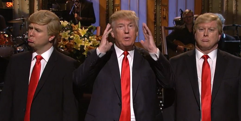 Donald Trump and Larry David