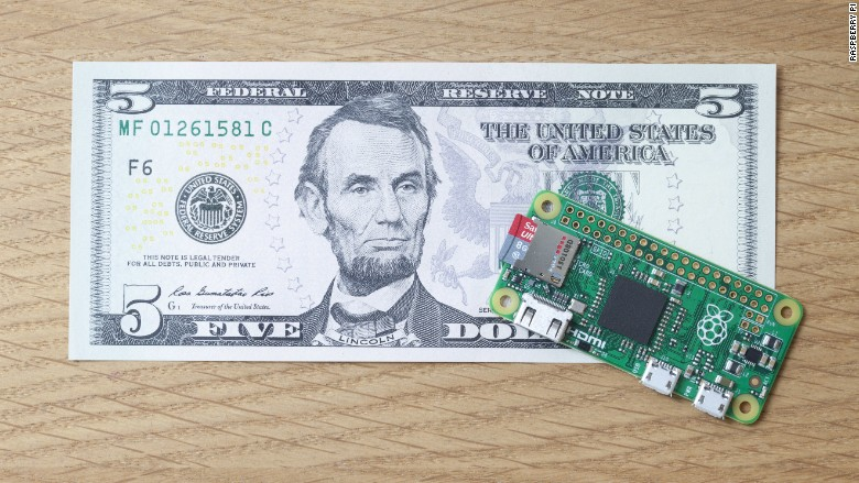 Raspberry Pi Zero for 5 Dollars - Sells Out