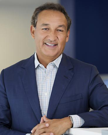 United Continental Holdings Inc CEO Oscar Munoz is seen in an undated handout picture courtesy of United Airlines