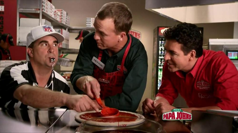 Peyton Manning at Papa Johns