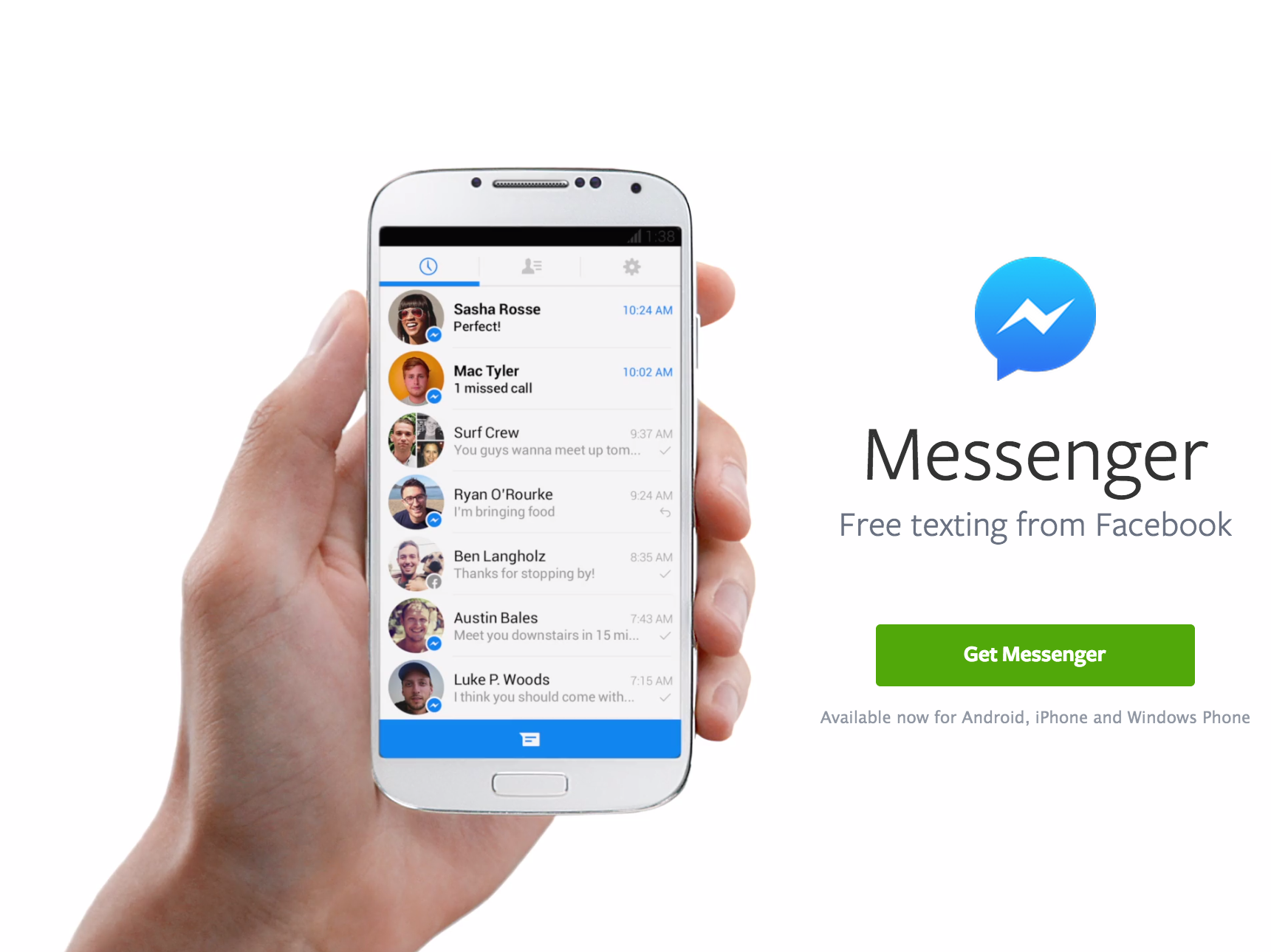 Facebook Messenger at 800 million users