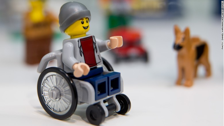 LEGO character in a wheelchair