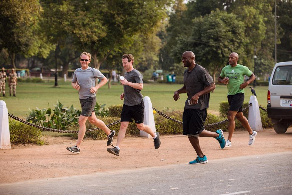 Mark Zuckerberg is running a mile a day