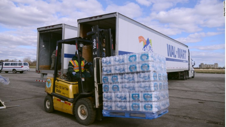 Walmart donating millions of bottles of water in Flint Michigan
