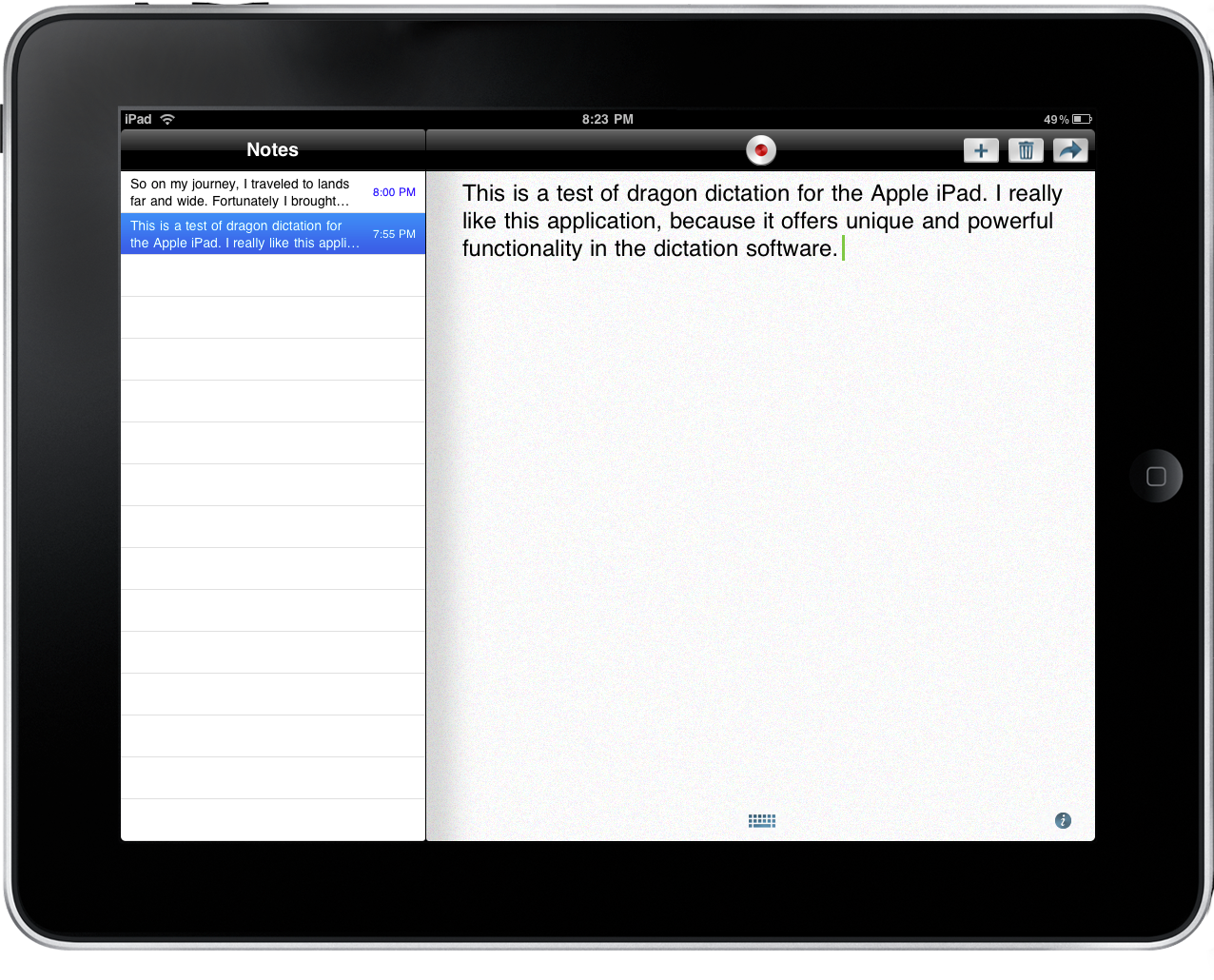 Dragon Dictation for iPad Pro
