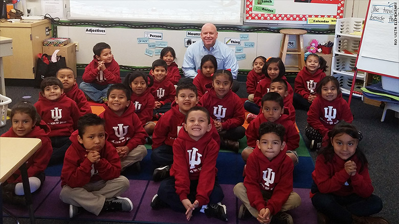 Stranger pledges $1 million to send entire kindergarten class to college