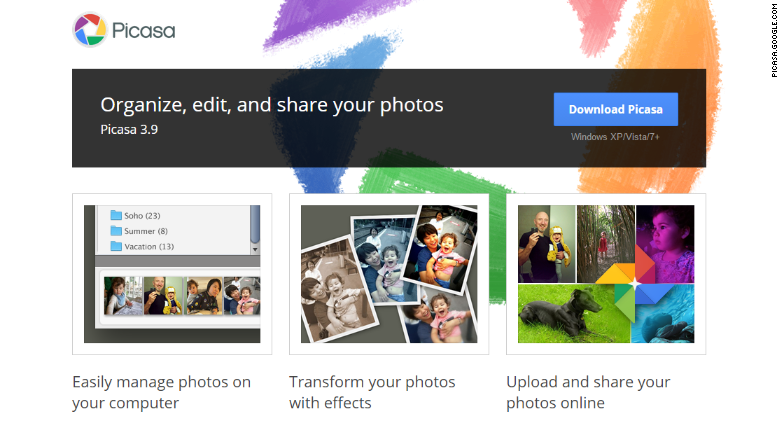 Google Picasa support ending