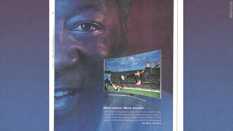 Samsung ad and Pele lawsuit