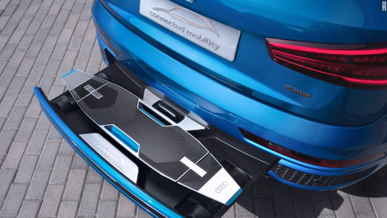 Audi concept car with skateboard built in