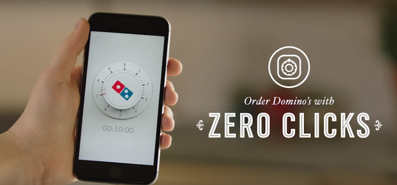 Dominos Pizza Zero Clicks App
