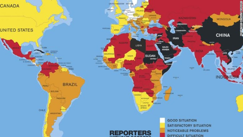 Journalists and freedoms around the world