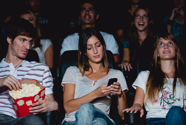 No texting in movie theaters