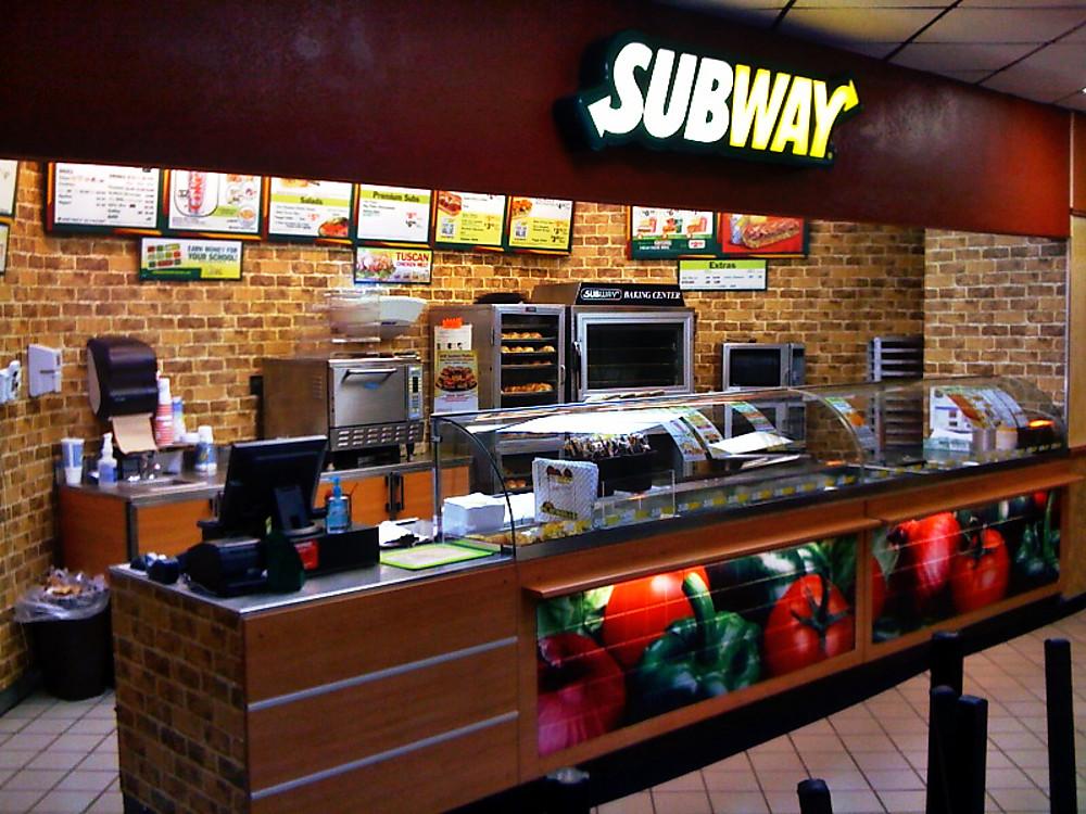 Subway menu now showing calories