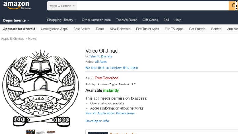 Taliban app finds its way onto Amazon app store
