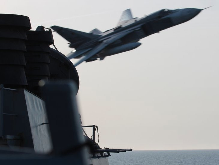 The US Navy says it didn't shoot down Russian fighters for just 'being annoying'