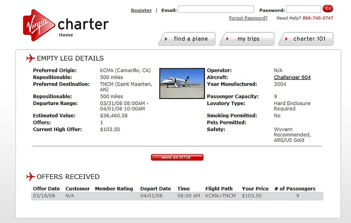 Virgin Charter