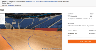 30000 dollar courtside tickets
