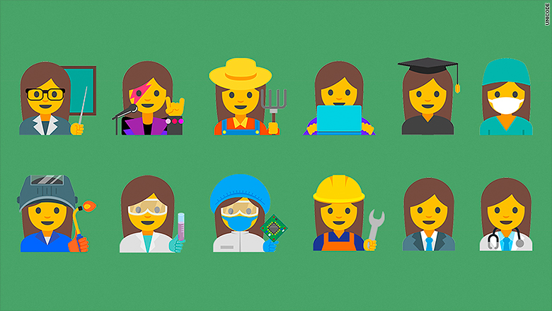 Google wants 'professional women' emojis to become a reality. Here they are.