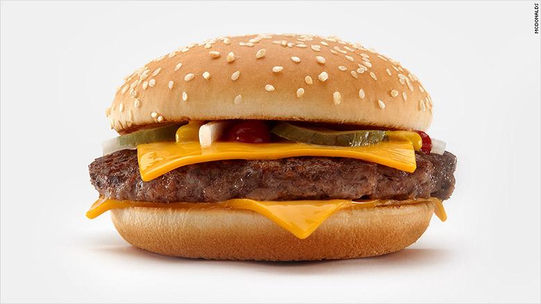 McDonalds Fresh Beef burgers