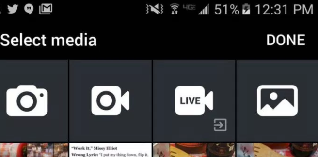 Twitter live mobile streaming app button