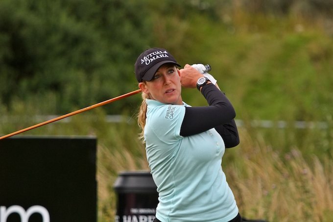 SOUTHPORT, UNITED KINGDOM – JULY 28: Cristie Kerr of USA tees off on the 10th hole during final practice round before 2010 Ricoh Women's British Open held at Royal Birkdale on July 28, 2010 in Southport, England. (Photo by Wojciech Migda)