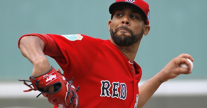 Boston Red Sox starting pitcher David Price throws to the Minnesota Twins in the first inning of a spring training baseball game in Fort Myers, Fla., Thursday, March 10, 2016. (AP Photo/Patrick Semansky)