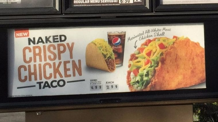taco bell naked chicken