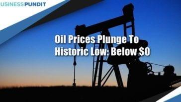 Crude Oil Prices Drop Below $0
