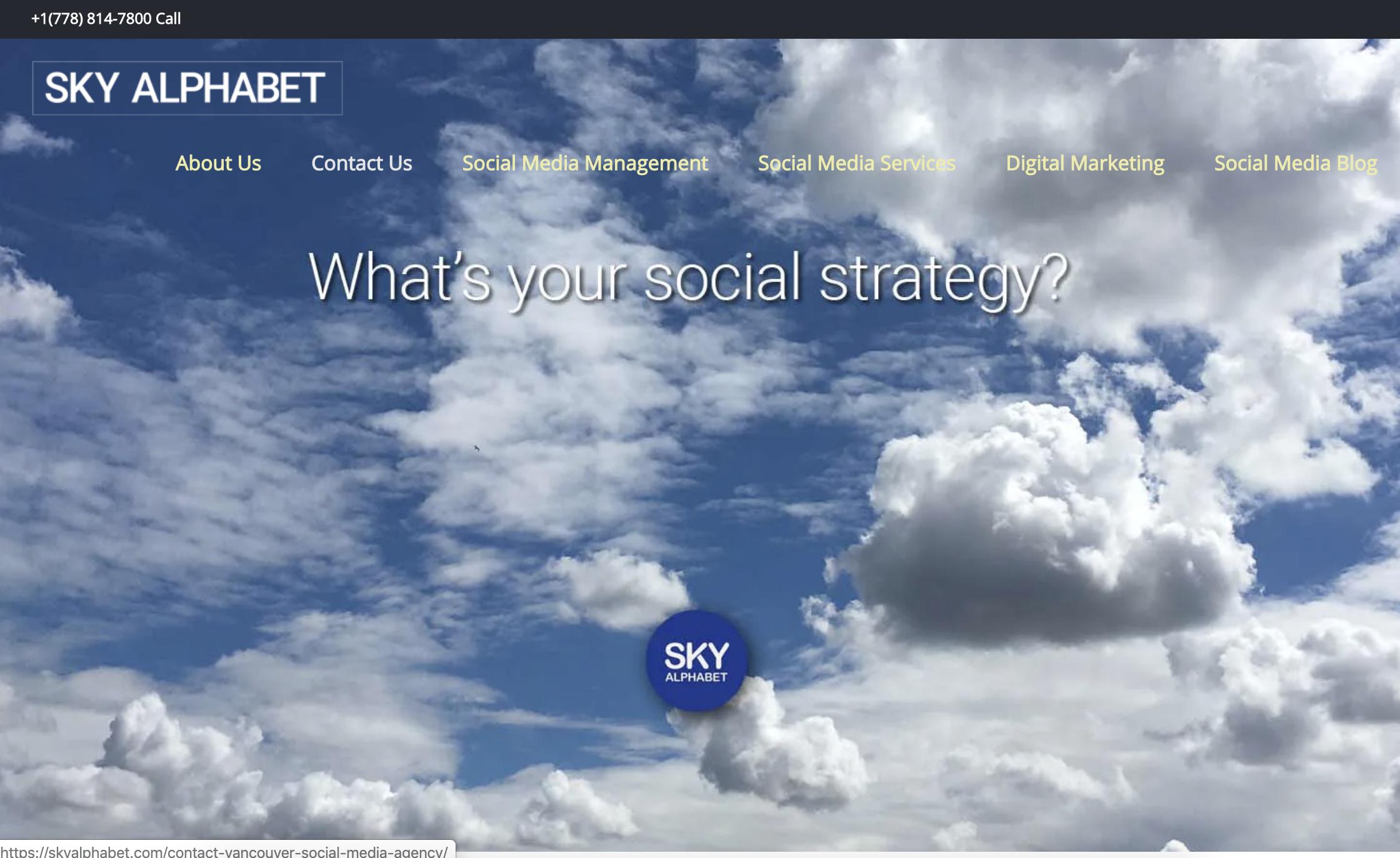 Sky Alphabet Social Media
