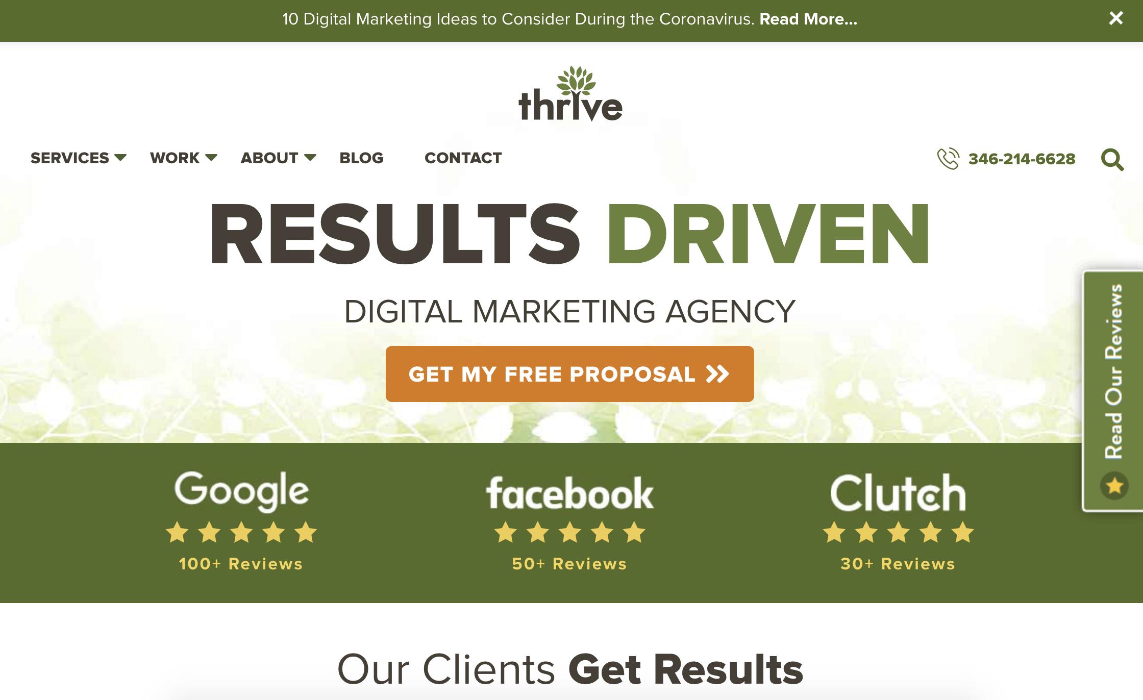 thrive digital marketing agency