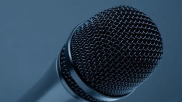 microphone close-up photo