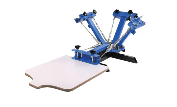 SHZOND 4 Color 1 Station Silk Screen Printing Machine with Removable Pallet