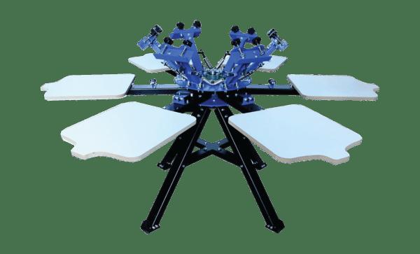 Techtongda 6 Color 6 Station Silk Screen Printing Press Machine