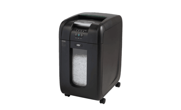 Swingline GBC Paper Shredder, SmarTech Enabled, Auto Feed, 300 Sheet Capacity, Super Cross-Cut, 5-10 Users, Stack-and-Shred 300X
